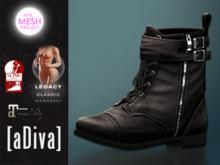 aDiva Lisbeth Boot Maitreya Lara / Slink/TMP Flat Feet Black
