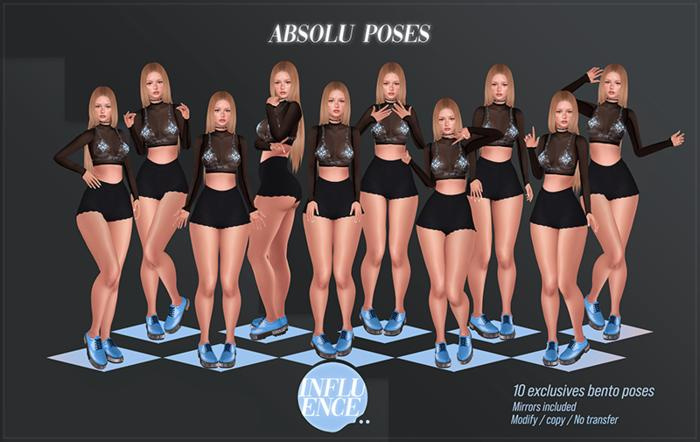 -Influence- Absolu Poses