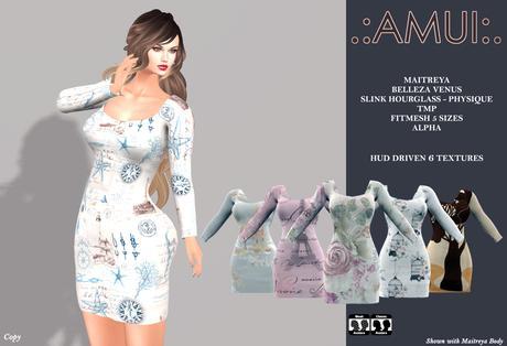 ".:AMUI:. ""Earth"" Dress (Maitreya Belleza Slink)"