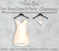 *Vanilla Bae* Vani Short Dress - Champagne Single Pack - Strip Me - Maitreya / Freya & Pushup / Legacy & Perky / HG