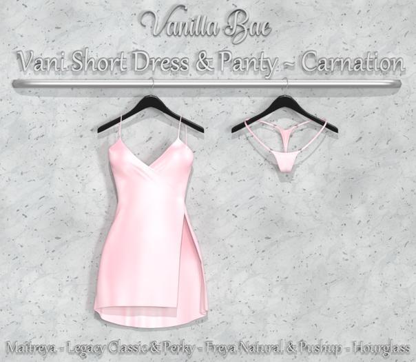 *Vanilla Bae* Vani Short Dress - Carnation Single Pack - Strip Me - Maitreya / Freya & Pushup / Legacy & Perky / HG