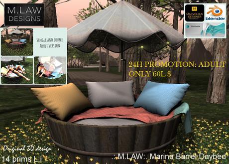.:M.LAW:. Marina Barrel Daybed box