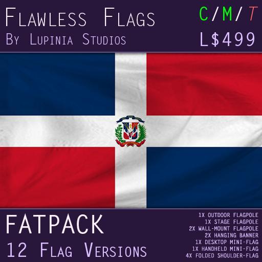 Dominican Republic Flag (Fatpack, 12 Versions)
