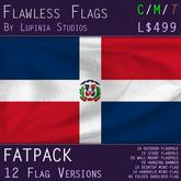 Dominican Republic Flag (Fatpack, 12 Versions)