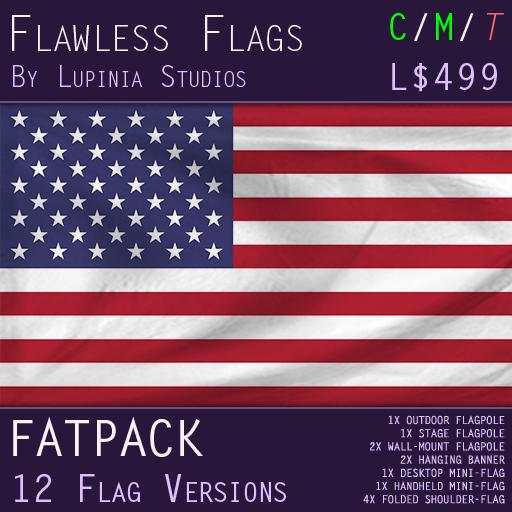 United States of America (USA) Flag (Fatpack, 12 Versions)