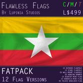 Myanmar Flag (Fatpack, 12 Versions)