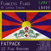 Tibet Flag (Fatpack, 12 Versions)