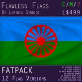 Romani Flag (Fatpack, 12 Versions)