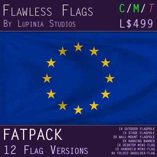 European Union (EU) Flag (Fatpack, 6 Versions) - INCLUDES MILKSHAKE