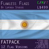 Argentina Flag (Fatpack, 12 Versions)