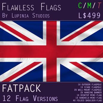 United Kingdom (UK) Flag (Fatpack, 12 Versions)