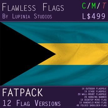 Bahamas Flag (Fatpack, 12 Versions)