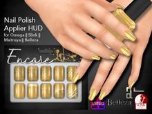 [Encore] Nail Appliers - Glamorously Gold (Slink/Omega/Belleza/Maitreya)