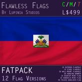 Haiti Flag (Fatpack, 12 Versions)