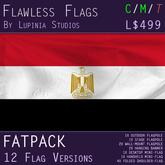 Egypt Flag (Fatpack, 12 Versions)