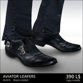 [*RG*] Aviator Loafers -Black-  *REDGRAVE*