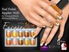 [Encore] Nail Appliers - Metallic Oranges (Slink/Omega/Belleza/Maitreya)