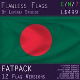 Bangladesh Flag (Fatpack, 12 Versions)