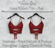 *Vanilla Bae* Luna Ribbon Top - Red Pack - Strip Me Collection - Maitreya / Freya & Pushup / Legacy & Perky / HG