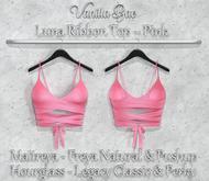 *Vanilla Bae* Luna Ribbon Top - Pink Pack - Strip Me Collection - Maitreya / Freya & Pushup / Legacy & Perky / HG