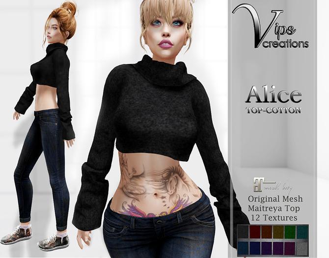 [Vips Creations] - Original Mesh Top  - [Alice-Cotton]HUD - Maitreya Top