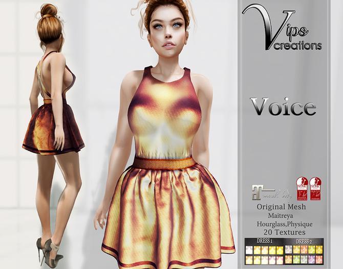 [Vips Creations] - Original Mesh Dress  - [Voice]HUD