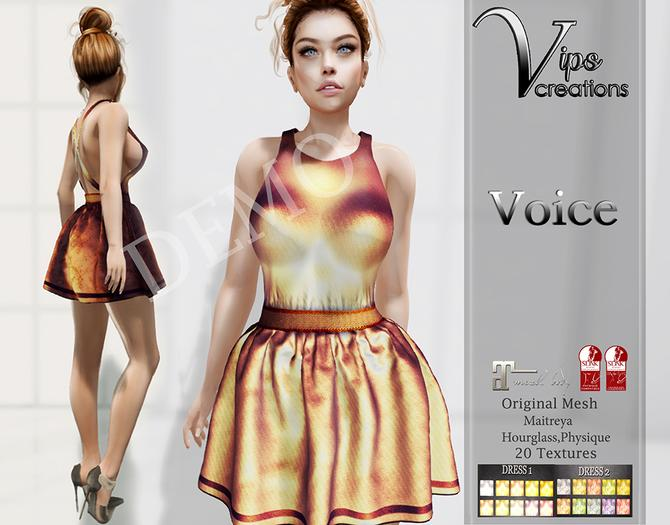 [Vips Creations] - DEMO - Original Mesh Dress - [Voice] - Original Dress