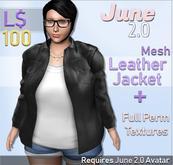 June 2.0 - Leather Jacket (Black)