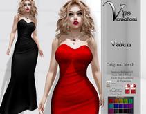 [Vips Creations] - Original Mesh Dress - [Valen]HUD - Gown Dress