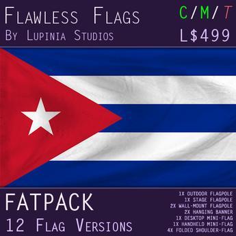 Cuba Flag (Fatpack, 12 Versions)