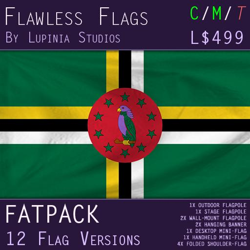 Dominica Flag (Fatpack, 12 Versions)