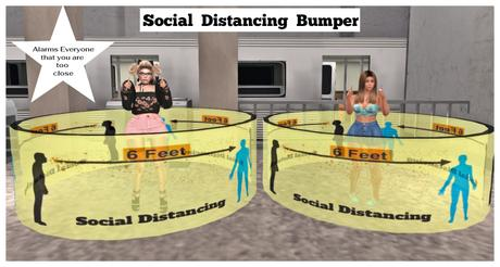 """Corona Virus (Covid-19) Social Distancing Parameter Bumper #1 Police """"Don't stand so close to me"""""""
