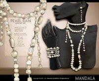 (50%OFF SALE!)[MANDALA]pearl rain jewely set(white)