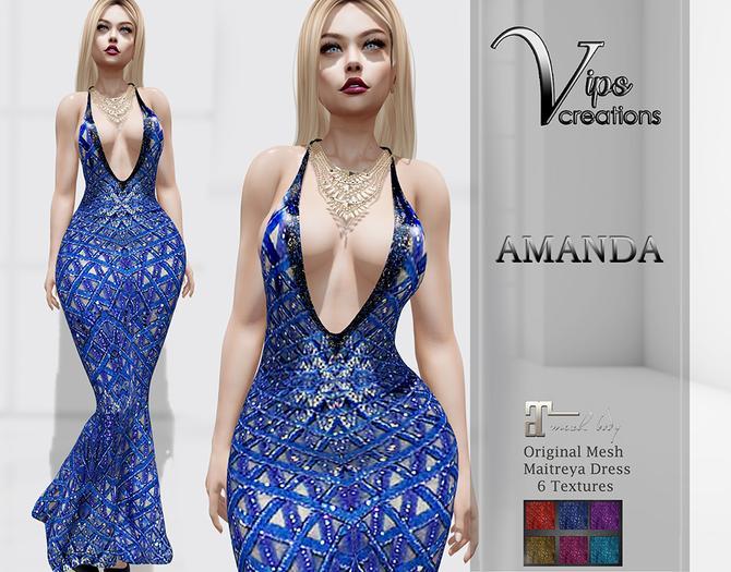 [Vips Creations] - Original Mesh Dress - PROMO [Amanda B]HUD-Maitreya Gown