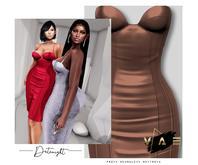 Vague. Datenight Dress Nude