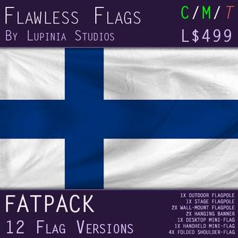 Finland Flag (Fatpack, 12 Versions)