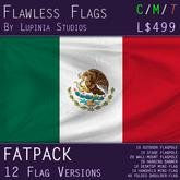 Mexico Flag (Fatpack, 12 Versions)