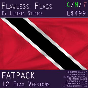 Trinidad and Tobago Flag (Fatpack, 12 Versions)