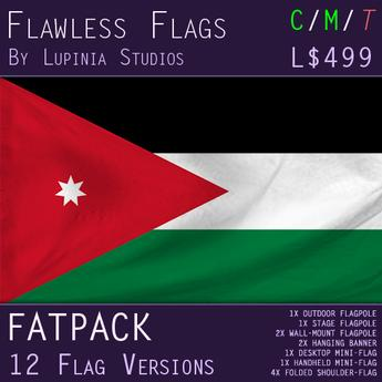 Jordan Flag (Fatpack, 12 Versions)
