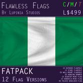 Nigeria Flag (Fatpack, 12 Versions)