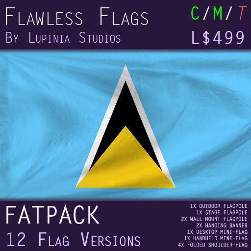 Saint Lucia Flag (Fatpack, 12 Versions)