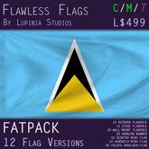 Saint Lucia Flag (Fatpack, 12 Versions)