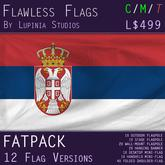 Serbia Flag (Fatpack, 12 Versions)