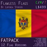 Moldova Flag (Fatpack, 12 Versions)