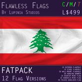 Lebanon Flag (Fatpack, 12 Versions)