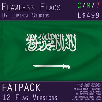 Saudi Arabia Flag (Fatpack, 12 Versions)