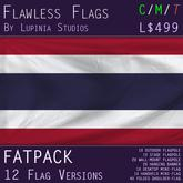 Thailand Flag (Fatpack, 12 Versions)