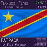 Democratic Republic of Congo Flag (Fatpack, 12 Versions)