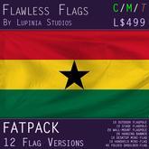 Ghana Flag (Fatpack, 12 Versions)