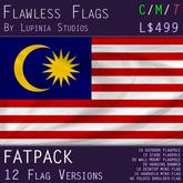 Malaysia Flag (Fatpack, 12 Versions)